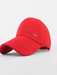 Hat Ultraviolet Resistant Unisex Baseball Summer White Red Blue Beige Dark Khaki-Sports®