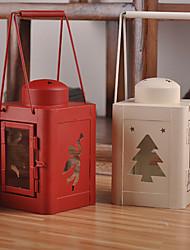 bougie de Noël de deux couleurs en fer forgé option chandelier / créatif style créatif chandelier