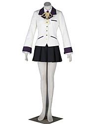 Inspirado por AngelBeats Cosplay Animé Disfraces de cosplay Trajes Cosplay Un Color Pañuelo Chaqueta Camisas Falda Tocados Para Mujer