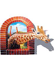 AY8007 Aiwall 3D Sticker Giraffe Wall Stickers for Home Decorations Wall Decals Wall Art Decor