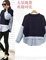внешней торговли в Европе и Америке рыхлых вставками новый цвет полосатый свитер пальто пятна