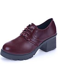 Для женщин Ботинки Армейские ботинки Полиуретан Весна Лето Осень Зима Повседневные Для прогулок Армейские ботинки ШнуровкаНа толстом