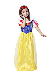 Snow White Costume for Girls Classic Princess Costume Dress and the Seven Dwarfs Costumes Deguisement Halloween Stage Show Cospaly