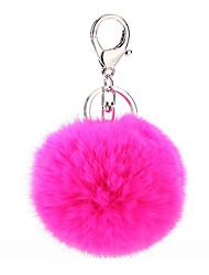 Key Chain Sphere Key Chain / Diamond Peach Metal / Plush