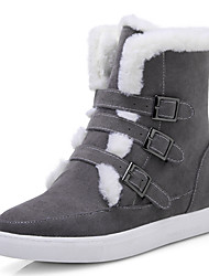 Women's Boots Spring / Fall / Winter Platform Fur / Fleece Office & Career / Dress / Casual Platform Buckle / Fur
