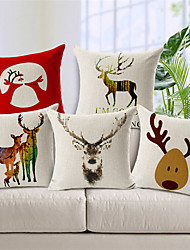 Deer Designed Style Cushion Covers Car Seat Covers For Sofa Home Decor Chair Pillowcase 17.7'X17.7' (45CMx45CM)