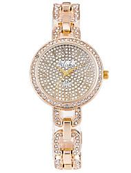 Mulheres Relógio de Moda Relógio de Pulso Quartzo Lega Banda Luxuoso Dourada Dourado