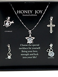 Jewelry Necklaces Party Alloy 1set Women Silver Wedding Gifts