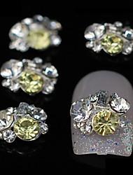 10pcs mix strass grupo brilho acessórios de liga de diy nail art decoração