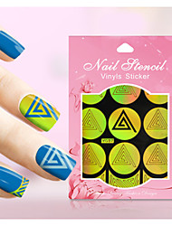 New Nail Art Hollow Stickers Geometric Image Colorful Flower Star   Design  Nail Art Beauty  Y031-040