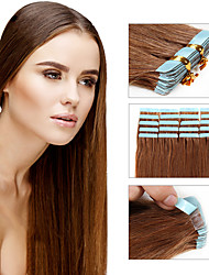 Double Tape in Human Hair Extensions Remy Brazilian Tape In Extensions 30g - 50g 20pcs/pack Straight Tape Hair Extensions