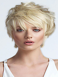 Short Colormix  Cut Srtraight Side Bang Synthetic Wig