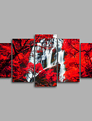 Canvas Set Unframed Canvas Print Landscape Floral/Botanical ModernFive Panels Canvas Horizontal Print Wall Decor For Home Decoration