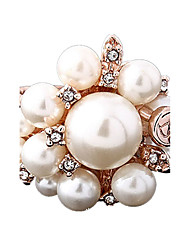 Statement Rings Rose Gold Pearl Alloy Fashion Gold Jewelry Party 1pc