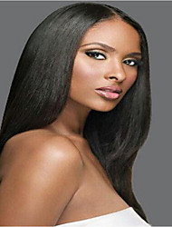 Full Lace WIG Brazilian Virgin Human Hair Yaki Straight Wig For African American Women