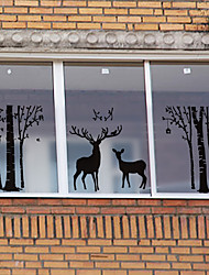Animal Contemporary Window StickerPVC/Vinyl Material Window Decoration 3 Pcs