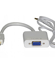 VGA Cable With Audio Adapter With Chip