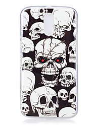 For Motorola MOTO G4 Case Cover Skull Pattern Luminous TPU Material IMD Process Soft Phone Case