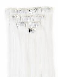 neitsi 10шт 18inch цвета изюминкой синтетические клип на наращивание волос в белый #
