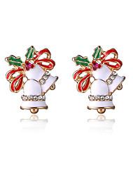 Pendiente Pendientes cortos Joyas Mujer / Niñas Fiesta / Diario Legierung 1 par Blanco / Rojo