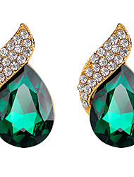 Stud Earrings Emerald Crystal Crystal Fashion Drop Black Green Jewelry Wedding Party Daily 1 pair