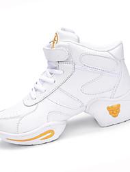 Chaussures de danse(Noir / Blanc) -Non Personnalisables-Talon Bottier-Silicone-Moderne