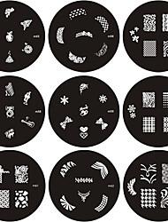 Плиты серии M, с изображениями узоров для нейл арта