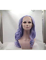 Sylvia Synthetic Lace front Wig Purple Heat Resistant Long Natual Wave Synthetic Wigs