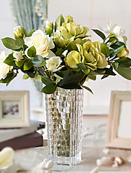 "17""H Classic Gardenia In Glass Vase Arrangement"