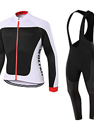 WOLFKEI Spring/Summer/Autumn Long Sleeve Cycling JerseyLong Bib Tights Ropa Ciclismo Cycling Clothing Suits #WK65