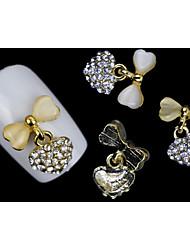 Jóias de Unhas - Adorável - para Dedo - de Metal - com 5pcs - 12*15mm - (cm)