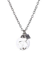 Women's Pendant Necklaces Jewelry Flower Alloy Flower Style Jewelry For Daily 1pc