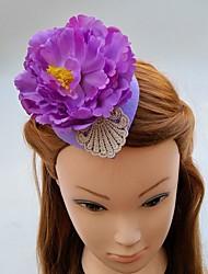 Women's Lace Chiffon Fabric Headpiece-Wedding Special Occasion Fascinators Hats Hair Clip 1 Piece
