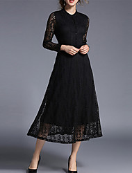 Europe and the United States foreign trade hot style leaves hollow out long sleeve lace dress collar pendulum