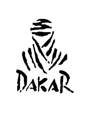 Funny  DAKAR Car Sticker Car Window Wall Decal Car Styling (1pcs)