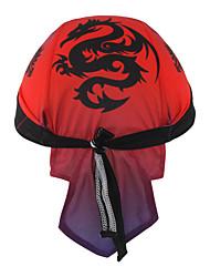 XINTOWN Headband Sweatband Cycling Cap Chinese Black Dragon Sunblock Cycling Biker Caps Set Headscarf Head Wraps Riding Hood Sports Hat- Red