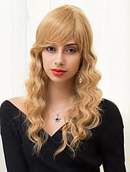 élégant en couches longue belle capless perruques de cheveux humains onduleux naturel