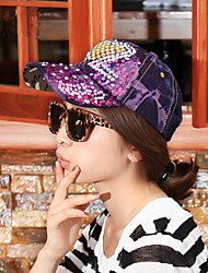 Spring And Summer Fashion Peach Heart Diamond Sequined Sequined Cowboy Baseball Cap Leisure Cowboy Hat