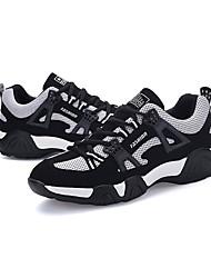 Herren-Sneaker-Lässig-PUAndere-Schwarz Blau Schwarz Rot Schwarz-Weiss