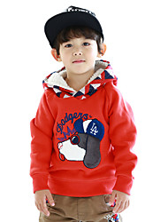 Boy's Cotton Fashion Spring/Fall/Winter Going out/Casual/Daily Dog Patchwork Long Sleeve Kid Thicken Hooded Sweater