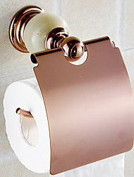 Jade & Brass Gold Paper Box Roll Holder Toilet Gold Paper Holder Tissue Box Bathroom Accessories