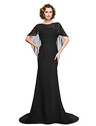 2017 lanting bride® une ligne mère de la robe de mariée - élégante belle mousseline arrière-parole longueur manches courtes avec des perles