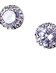 Women's Stud Earrings Colorful Luxury Zircon Cubic Zirconia Copper Crown Jewelry For Wedding Halloween Casual
