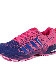 Big Size Women's Athletic Shoes Comfort Tulle Sneakers Outdoor Casual Running Shoes Flat Heel Lace-up 3 Color