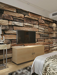 JAMMORY Large 3D Wallpaper Mural Wallpaper Seamless Simple Living Room Bedroom TV Background Wallpaper Irregular Earth Brick Background XL XXL XXXL