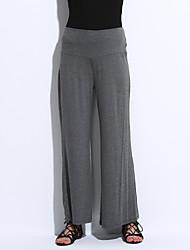 Femme Ample Pantalon Aux s Ample simple Polyester/Spandex Micro-élastique