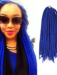 Box Braids Twist Braids Blue Hair Braids 24Inch Kanekalon 90g Synthetic Hair Extensions