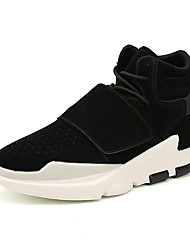 Men's Athletic Shoes Fall Winter Comfort PU Casual Flat Heel Black Red Gray