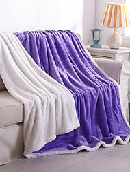 KorallenfleeceEinfarbig Einfarbig Wolle/Acryl Decken