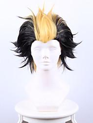 kyoto exorcista não pluto net ganha tempo shi preta entre o cabelo curto cosplay alta temperatura peruca fio amarelo